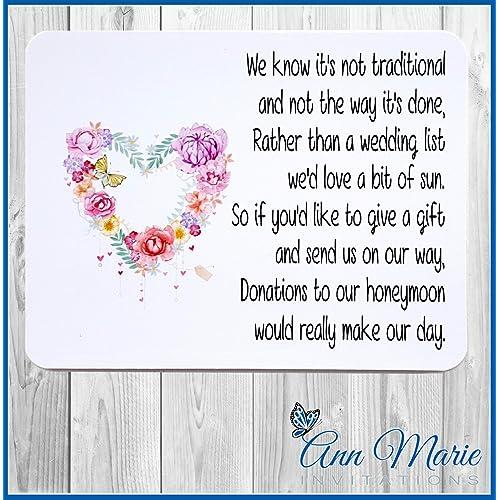 Wedding Money Poem Amazon Co Uk
