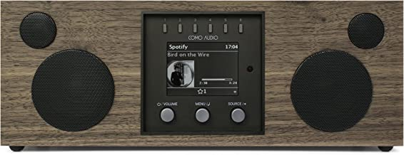 Como Audio: Duetto - Wireless Music System with Internet Radio, Spotify Connect, Wi-Fi, FM, and Bluetooth - Walnut/Black