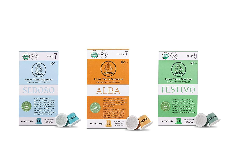 Arnav Inexpensive 100% Pure Arabica Organic Coffee Credence Biodegradable Capsules