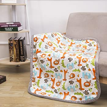 COOSEY HOME Breathable Baby Blanket Safari Print Fleece Best Registry Gift for Newborn Soft- Perfect for Prince and P...