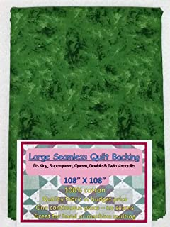Quilt Backing, Large, Seamless, Green/Black, C49594-730