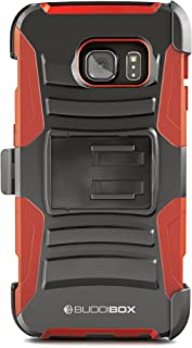Galaxy S7 Edge Case, BUDDIBOX [HSeries] Heavy Duty Swivel Belt Clip Holster with Kickstand Maximal Protection Case for Samsung Galaxy S7 Edge, (Red)