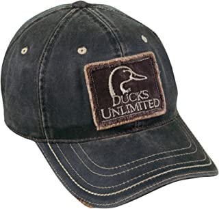 Mossy Oak Ducks Unlimited Frayed Patch on Weathered Cotton Cap, Dark Brown