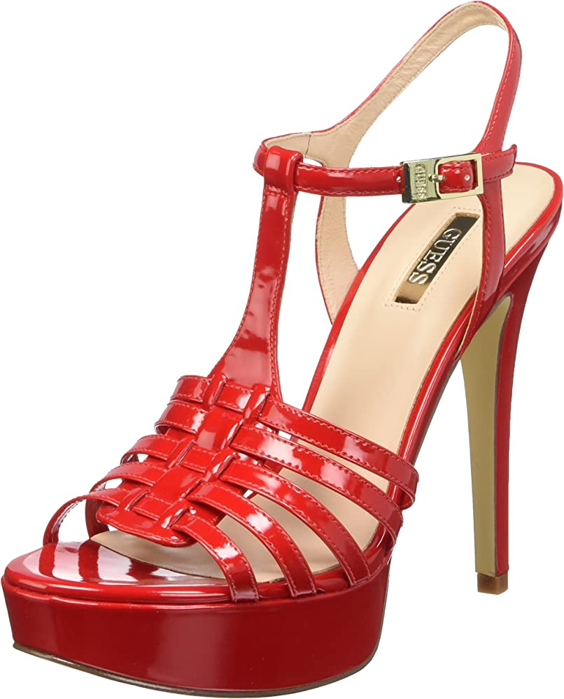 Guess kamali patent pu, scarpe da donna col tacco a spillo,in pelle FLKML2PAF03-PAF03-36