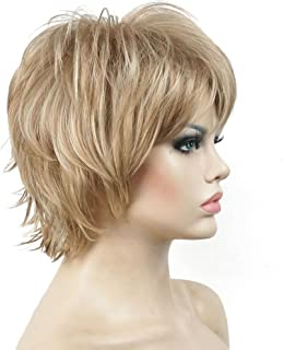 Lydell Short Layered Shaggy Wavy Full Synthetic Wigs #L16/613 Blonde Highlights