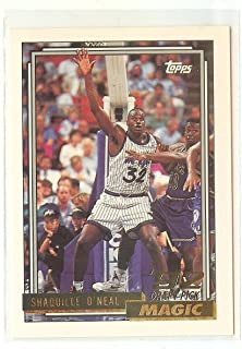 1992 - 1993 Topps Shaquille O'Neal GOLD Rookie Card (RC) shipped in an acrylic screwdown holder. Orlando Magic, Los Angeles Lakers, Boston Celtics