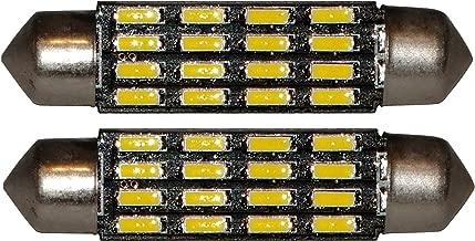 del compartimiento del motor y del maletero AERZETIX: 10 x Bombillas azul C5W 12V 3LED SMD 36mm para iluminacion interior luz de matricula luz del techo luces umbrales de puertas