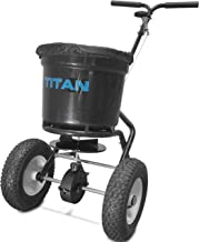 Titan 50 Lb. Fertilizer Broadcast Spreader, Lawn Care and Ice Melter Yard Tool