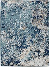 Persian Rugs 6490 Blue 8 x 10 Abstract Modern Area Rug