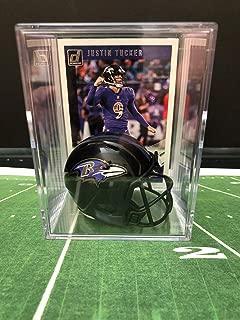 Baltimore Ravens NFL Helmet Shadowbox w/Justin Tucker card