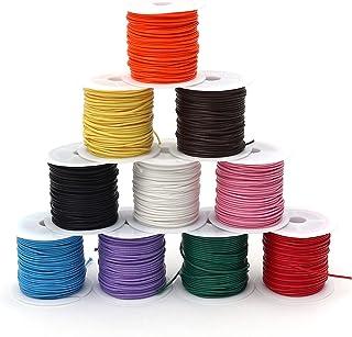 color al azar Pulsera el/ástica con cord/ón encerado de algod/ón para bisuter/ía y fabricaci/ón de pulsera 8 m 10 rollos
