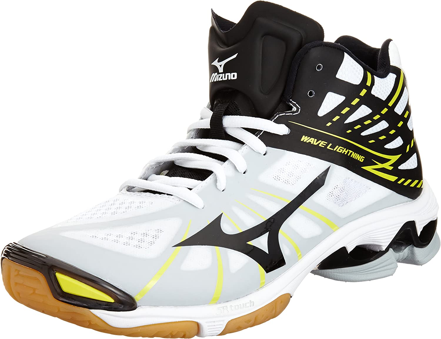 Mizuno Volleyball shoes Wave Lightning Z Mid White Black Volt
