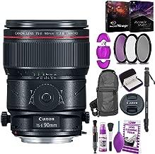 Canon TS-E 90mm f/2.8L Macro Tilt-Shift Lens with Bonus Bundle   Memory   Backpack   Monopod   Cleaning Kit   International Model