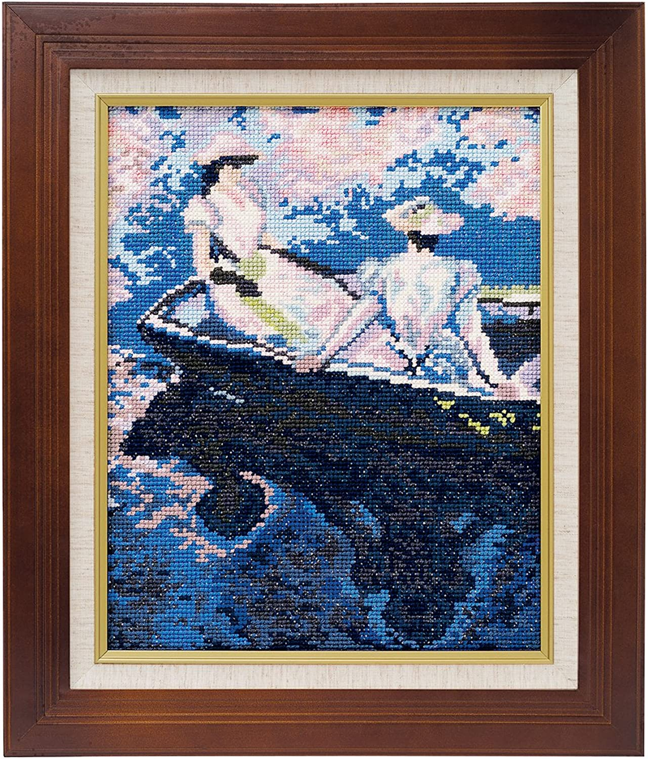 Embroidery kit 877 (Beige) Art Gallery  boating  Monet work 4480g (Japan import   The package and the manual are written in Japanese)