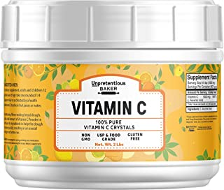 Vitamin C Powder , 2 lb, 100% Pure Ascorbic Acid, Vegan, Non-GMO & Gluten-Free, Lab Tested, Resealable Bag by Unpretentious