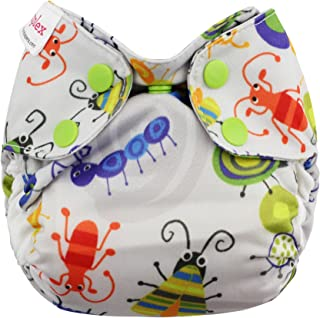 Blueberry Organic Newborn Simplex All in One Cloth Diapers, Made in USA (Bugs)