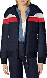 Women's Iconic Hooded Quilted Bomber Puffer Jacket