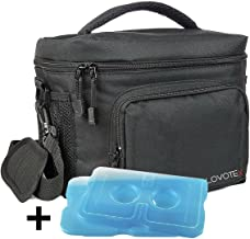Large Insulated Lunch Bag, Cooler Bag Fits 12 Cans, With 2 Reusable Cooler Ice Packs Roomy Compartments For Lunch Box, Bottles, Containers, Travel, Camping & More
