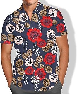 Camisa Praia Masculino Floral Concha Borboleta Tropical