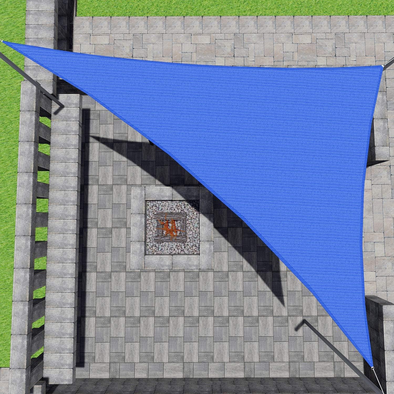 Patio Paradise 10'x10'x14' Blue Sun Triangle Shade Sail Long Beach Mall Ca Latest item Right