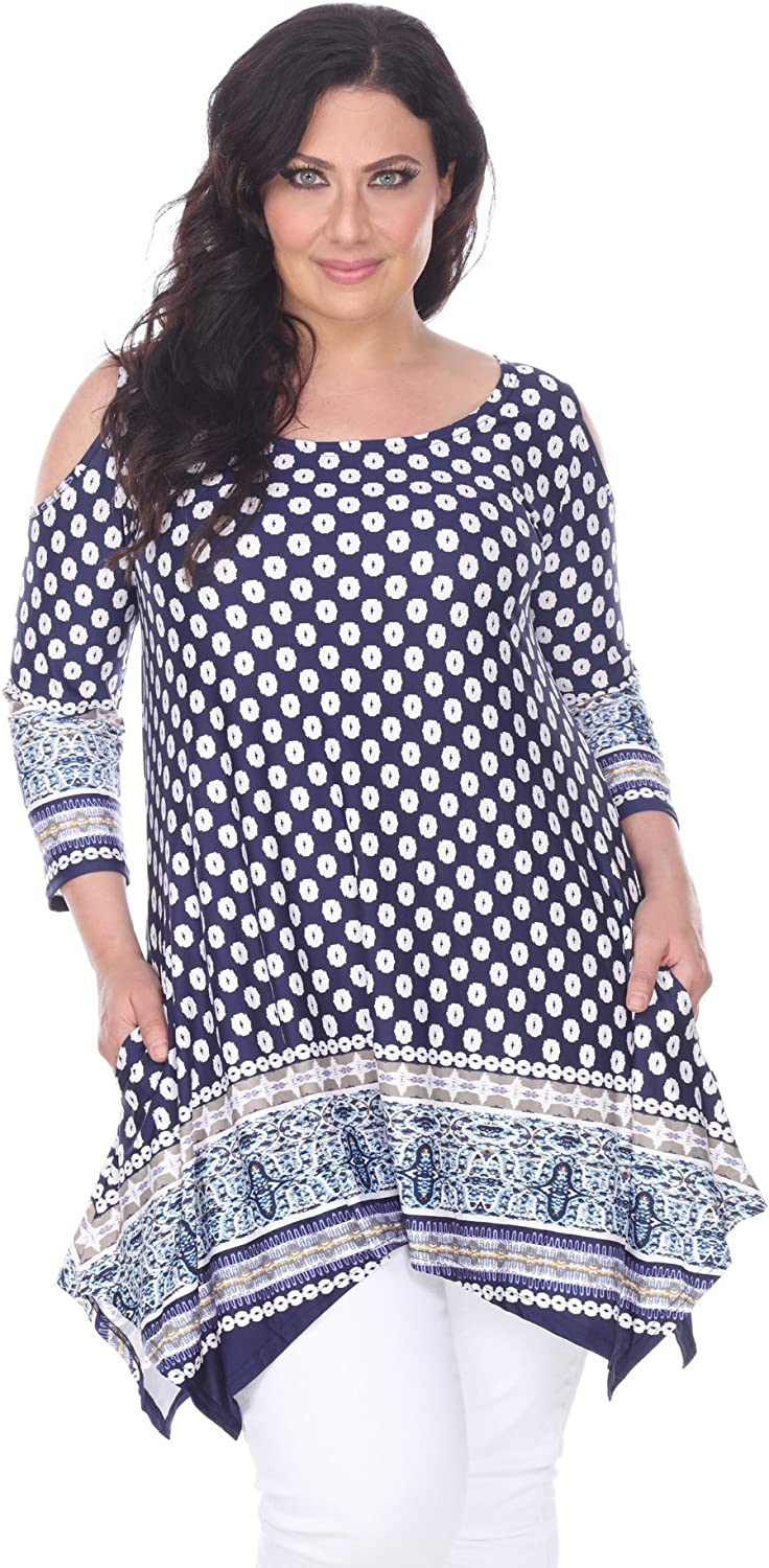 White Mark Trendy Direct store Plus Size Top Cut Tunic Out S Shoulder Antonia Ultra-Cheap Deals