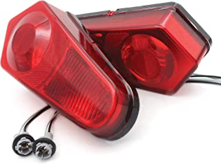 2 Pack Taillight Housing Compatible with 2009-2017 Polaris Sportsman 500 550 850 570 1000 (Red)