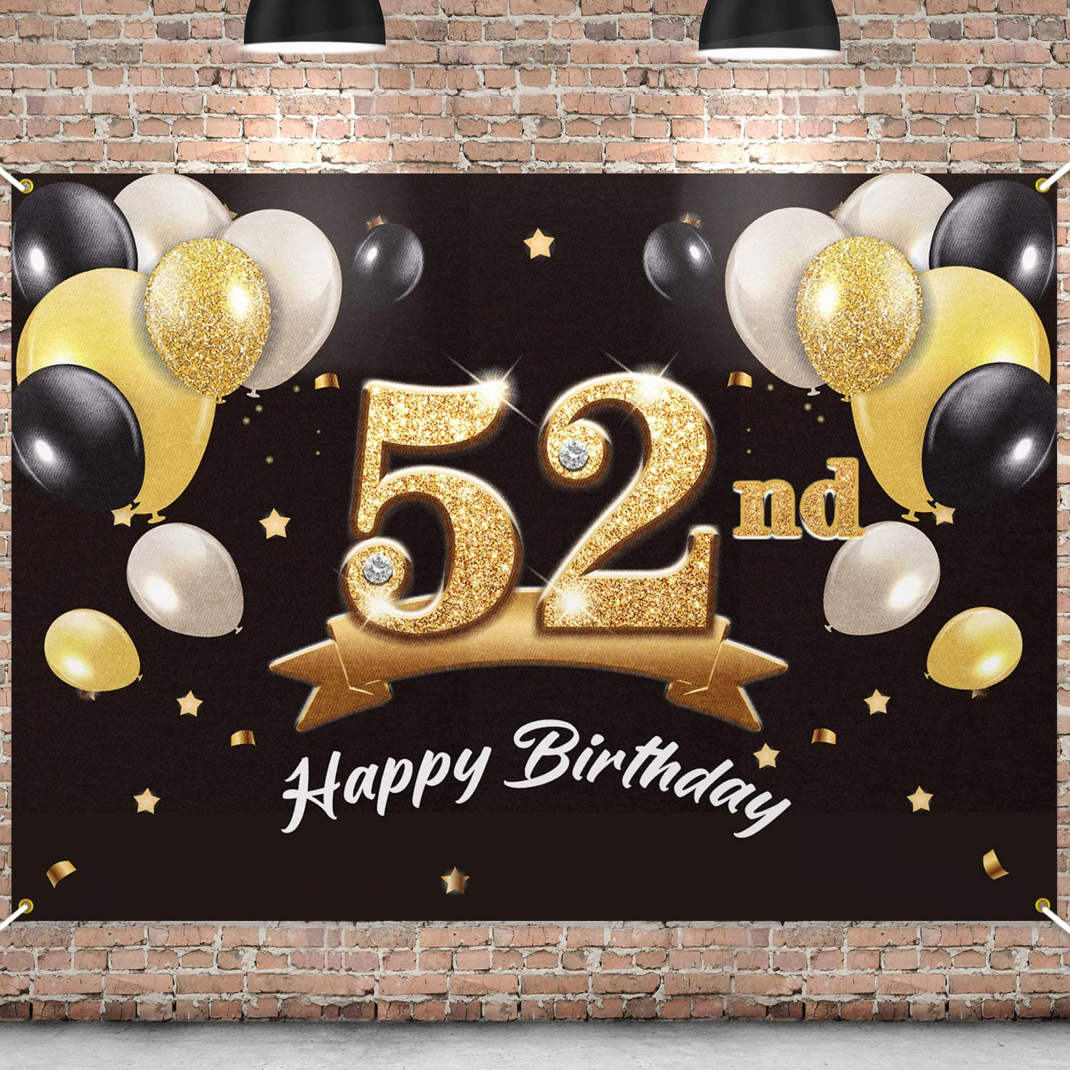 New Free Shipping PAKBOOM Very popular! Happy 52nd Birthday Banner Backdrop - Party 52
