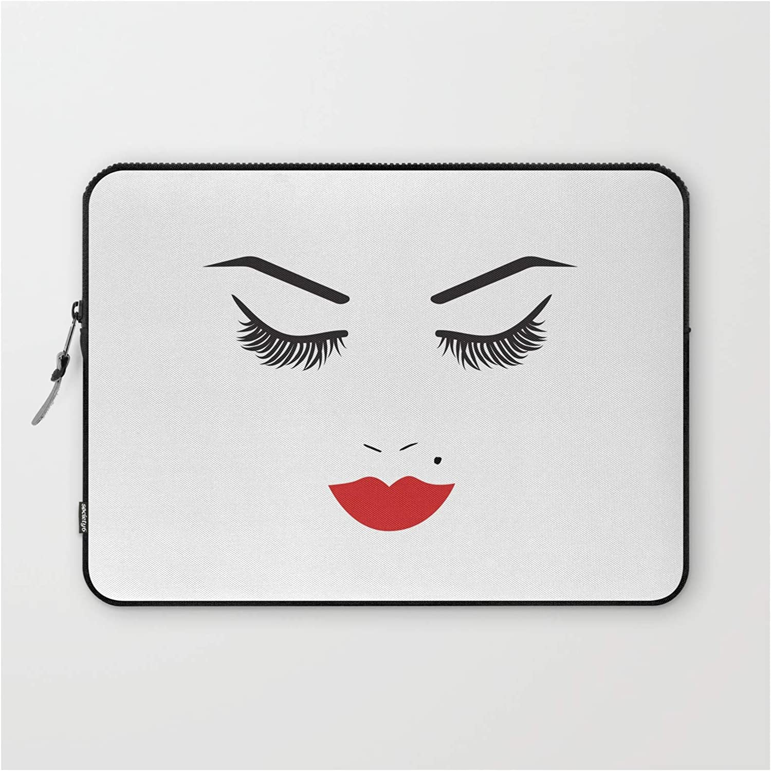 Be super welcome Beauty Face with Red Max 50% OFF Lips by Christyne Sleeve on - Laptop