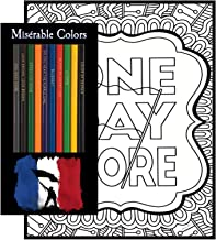 Les Misérables Coloring Gift Set - 12 Musical Themed Colored Pencils and Pack of 4 Coloring Pages