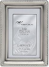 Lawrence Frames Moldura de estanho antigo 5 x 7 cm - Design de borda com contas