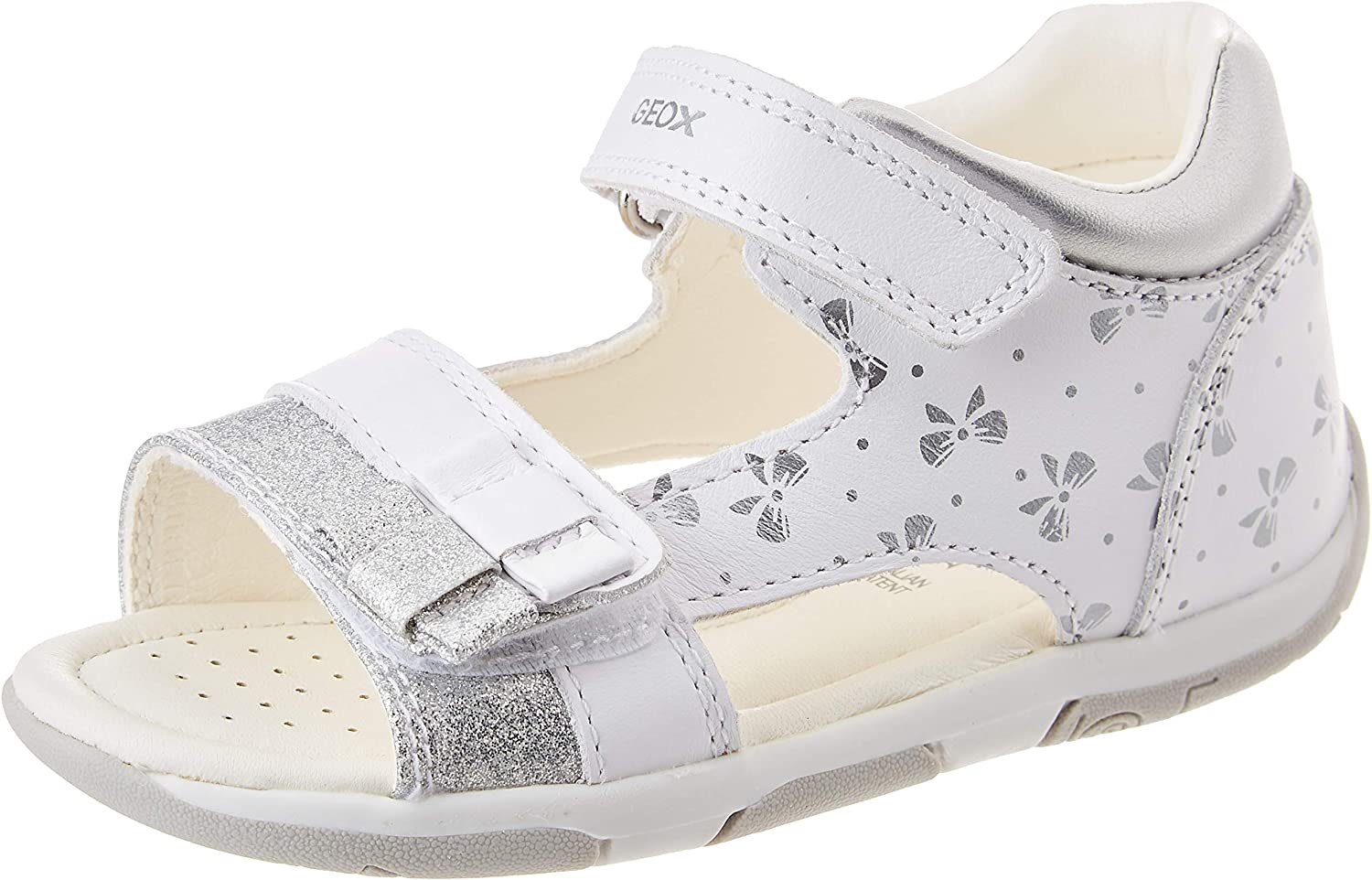 low-pricing Geox B150YB085NF Baby Girls' Ranking TOP10 White Silver