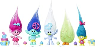 Trolls Coronation Celebration Pack, 5 Mini Figure Set with 15 Party-Themed Accessories (Amazon Exclusive)