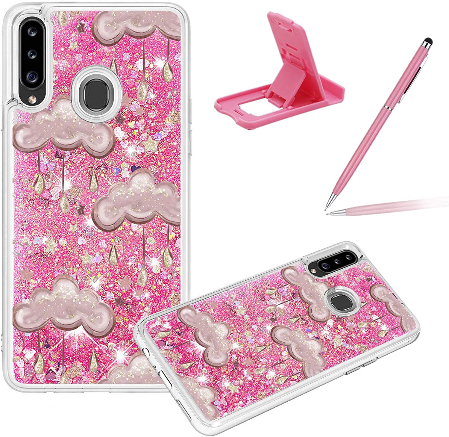 Liquid Clear Case for Samsung Galaxy Girls Women Co Glitter Ultra-Cheap Deals Challenge the lowest price of Japan A20S