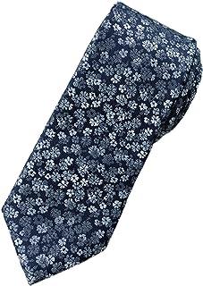 TOWERGEM紳士7CM 幅 細ネクタイ織ジャカード花柄 洗濯 可能