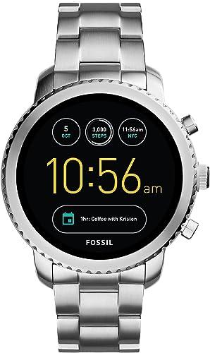 FOSSIL Montre connectée Explorist | Smartwatch homme étanche - Compatibilité iOS & Android - Coffret montre avec son ...