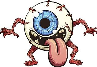 Divine Designs Creepy Scary Eyeball Monster Cartoon Vinyl Decal Sticker (8