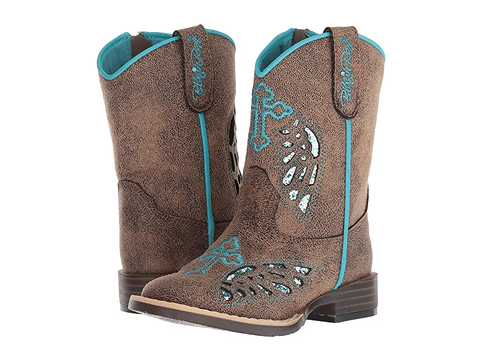 M&F Western Kids Gracie (Toddler) (Tan/Black/Turquoise) Cowboy Boots