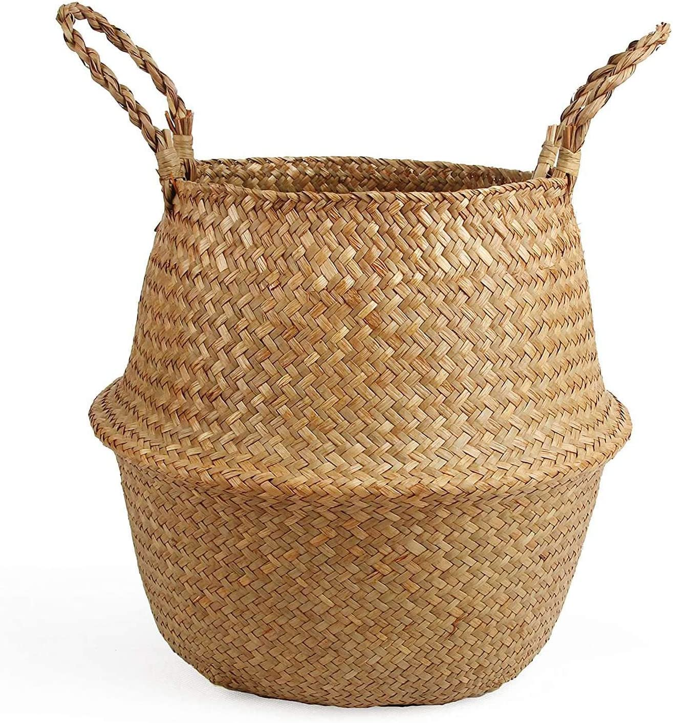 HAOHON Woven Straw Belly Basket for and Pot Fort Worth Mall Plant Jacksonville Mall Storage