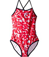 Oscar de la Renta Childrenswear - Abstract Floral Classic Swimsuit (Toddler/Little Kids/Big Kids)
