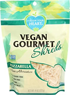 FOLLOW YOUR HEART Gourmet Shredded Cheese, Mozzarella, 8 Ounce (Pack of 8)