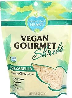 FOLLOW YOUR HEART Gourmet Shredded Cheese, Mozzarella, 8 Ounce (Pack of 8)