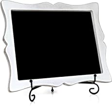 Chalkboard Sign with Easel - Hand Crafted Tabletop Chalkboard for Wedding Signs, Kitchen Decor - Small Chalk Board with Frame (Wooden) - Hanging or Standing Small Chalkboard - Chalk Board Sign