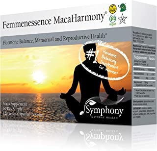 Femmenessence MacaHarmony - All Natural Gelatinized Maca Supplement to Support Women's Hormone Balance, PMS, Acne & Healthy Skin, Regular Menstrual Cycle & Fertility (120 capsules, 60 day supply)