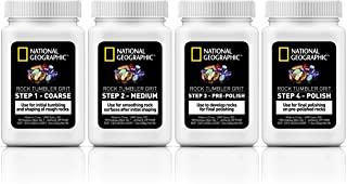 NATIONAL GEOGRAPHIC Grit Refill for Rock Tumbler - Also works with Lortone, Thumler and more