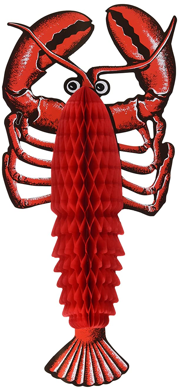 Beistle 55634 Tissue Lobster, Red/Black/White
