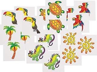 Fun Express Tropical Tattoos (12 Dozen) - BULK