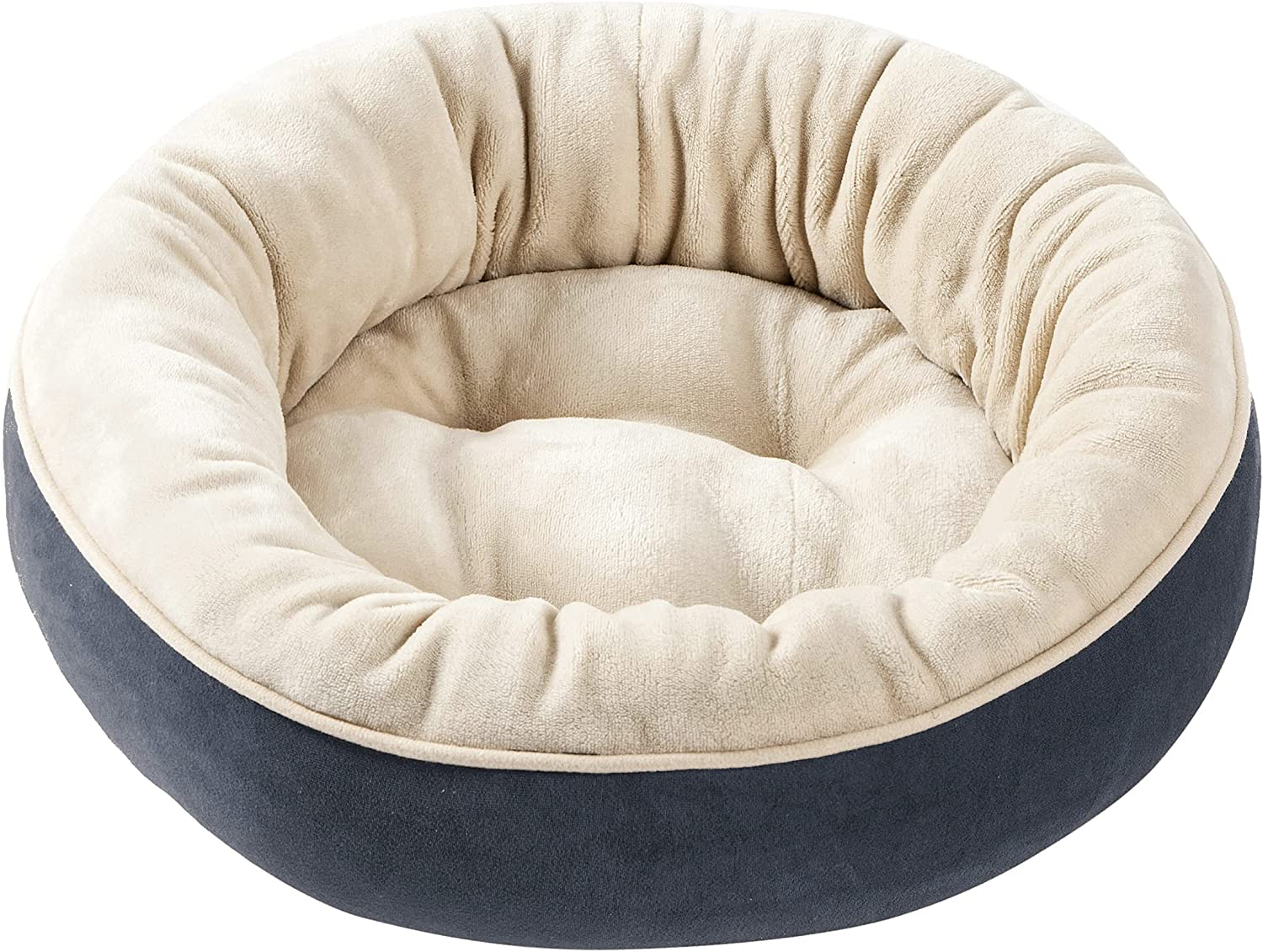 Perodo Round Max 61% OFF Bolster OFFicial site Dog or Cat Donut Supplies Pet Bed M