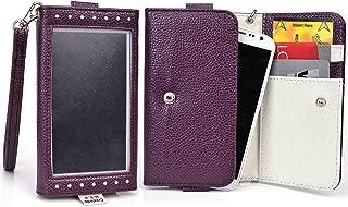 Acai Purple Window Wristlet Wallet Case for Samsung Sl, R, Galaxy Fascinate, Focus S, Avant, Core Plus, Alpha, Express 2, Star 2 Plus, Win Pro, Galaxy Ace Style LTE G357, Galaxy Alpha Smartphone