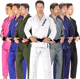 Elite Sports BJJ GI for Men IBJJF Kimono BJJ Jiujitsu GIS W/Preshrunk Fabric & Free Belt (See Special Sizing Guide)