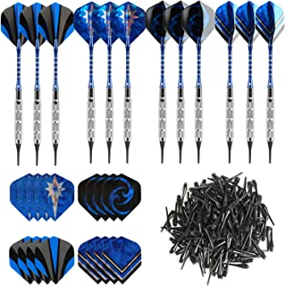 GWHOLE 18g Soft Dart with 16 Dart Flights and 200 Dart Soft Tip Points for Electronic..